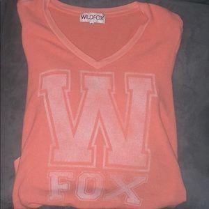 Orange Wildfox baggy beach jumper!